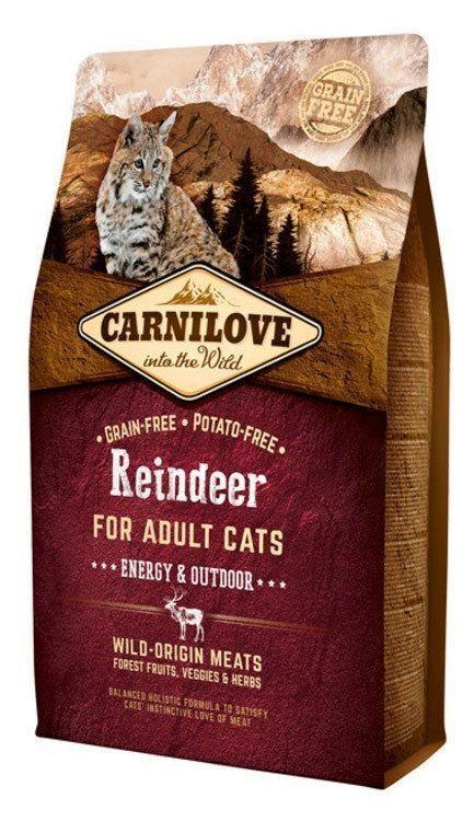 Carnilove 400г Reindeer for Adult Cats - Energy & Outdoor дк активных северный олень