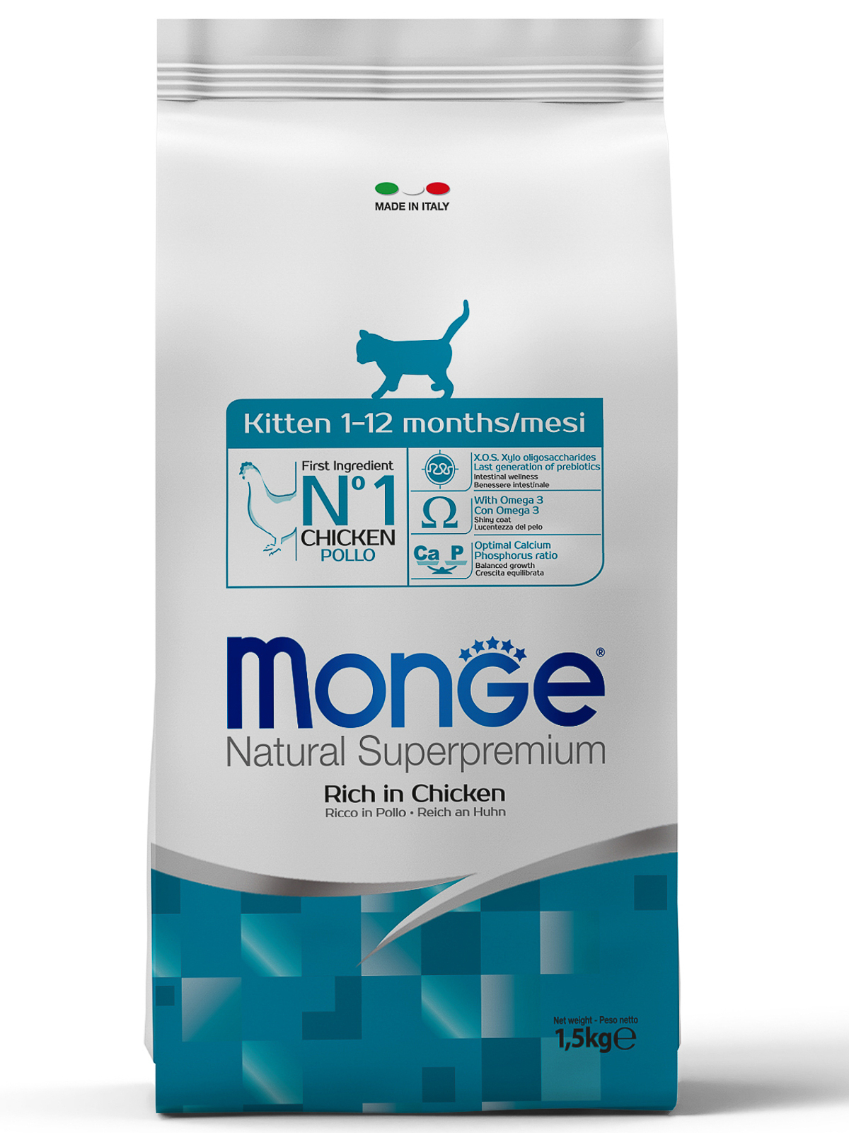 Monge Cat Kitten корм для котят всех пород, курица 1,5 кг