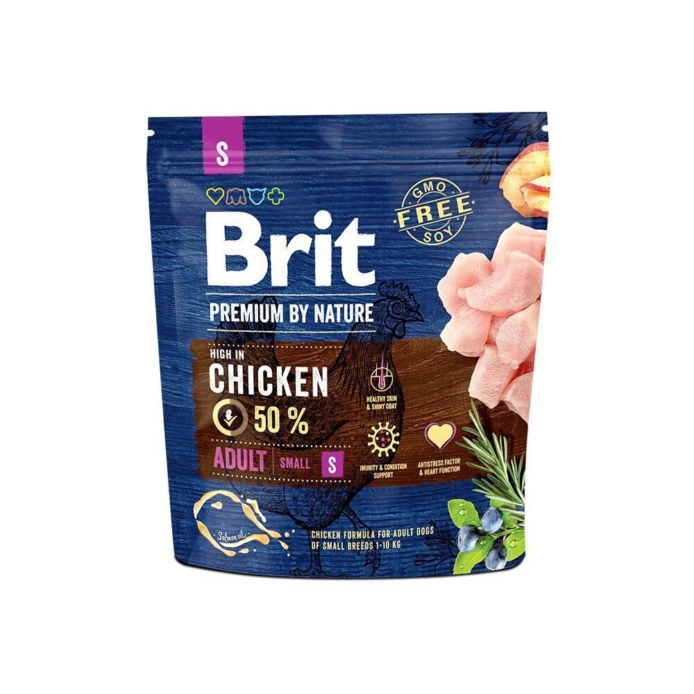 Brit Premium корм для взрослых собак малых пород, курица 1 кг