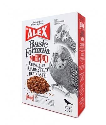 Mr.Alex ВИА Корм для волнистых попугайчиков Минерал Basic, 0,500 кг, 52741