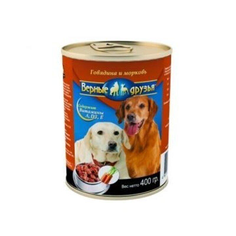 Верные друзья консерв. длЯ собак 415г курателятинаморковь (120)*