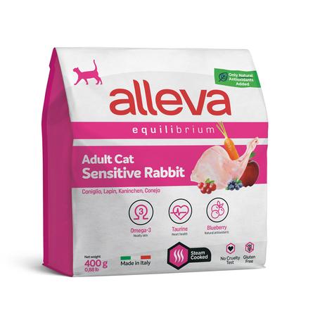 ALLEVA EQUILIBRIUM CAT для кошек Adult Sensitive Rabbit / взрослых с кроликом 0,4 кг 1066 НОВИНКА,