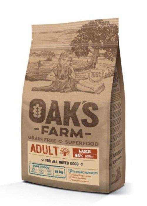 Oaks Farm GF сухой корм для собак всех пород, ягненок 18 кг