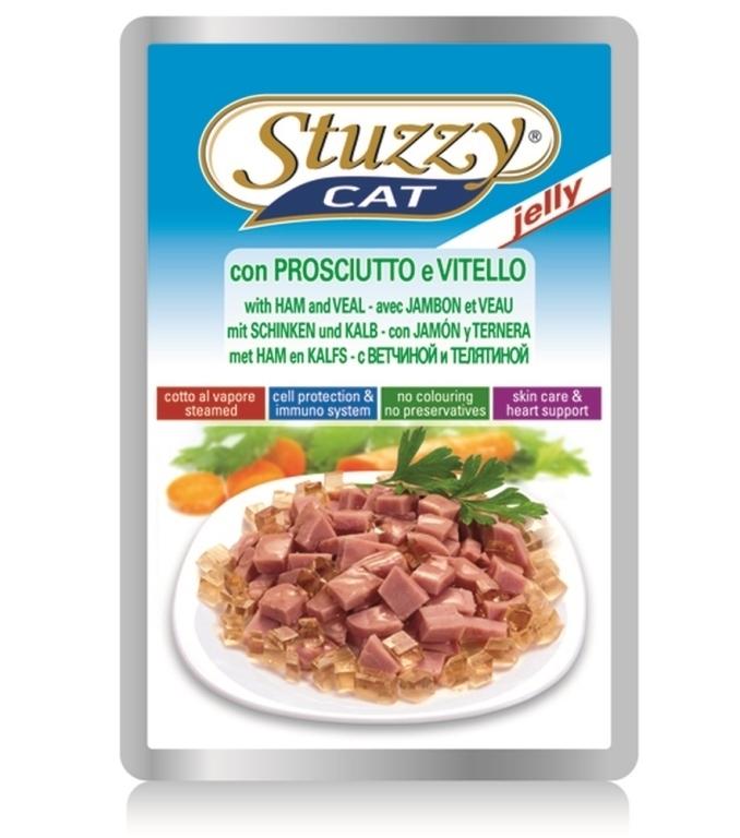 Stuzzy Cat влажный корм для взрослых кошек всех пород, с ветчиной 100 гр