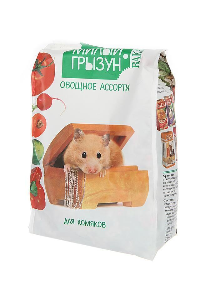 Вака High Quality Милый грызун овощное ассорти дхомяков,200гр. 110