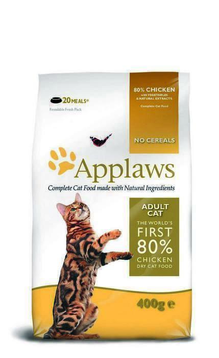 Applaws корм для взрослых кошек всех пород, беззерновой, курица и овощи 7,5 кг