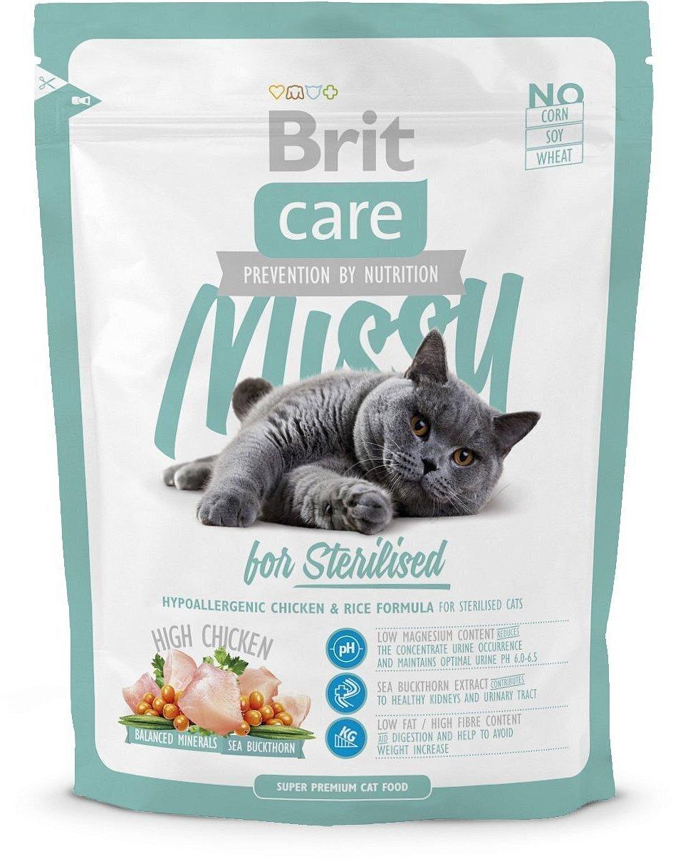 Brit Care корм для взрослых стерилизованных кошек всех пород, цыпленок 400 гр