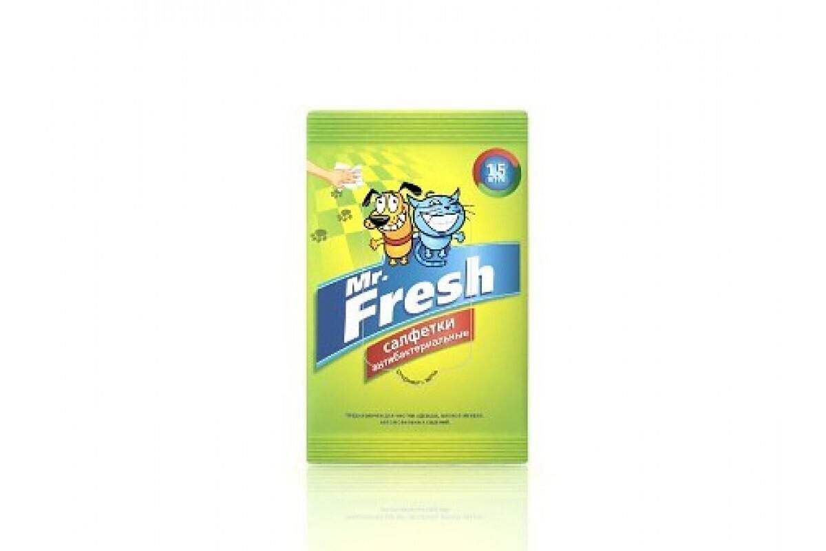 Mr. Fresh салфетки влажные для собак 62 гр.