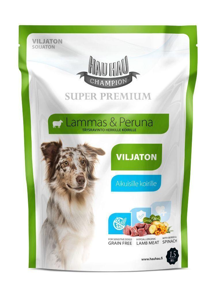 Hau-Hau Champion SP Lamb grain-free 1.5кг корм для собак всех пород из мяса ягненка без зерна 18