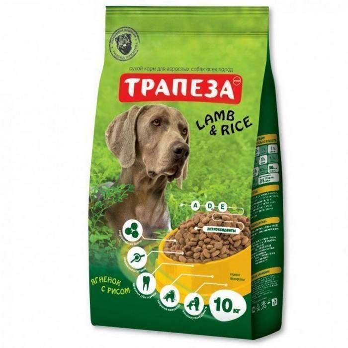 Трапеза корм для взрослых собак всех пород, ягненок с рисом 10 кг