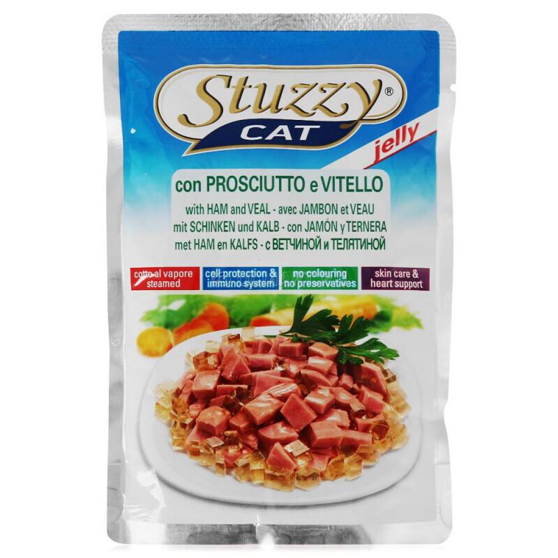 Stuzzy Cat влажный корм для взрослых кошек всех пород, с телятиной 100 гр