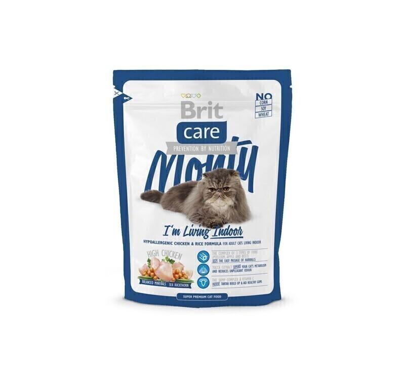 Brit Care корм для взрослых кошек всех пород, живущих в помещении 400 гр