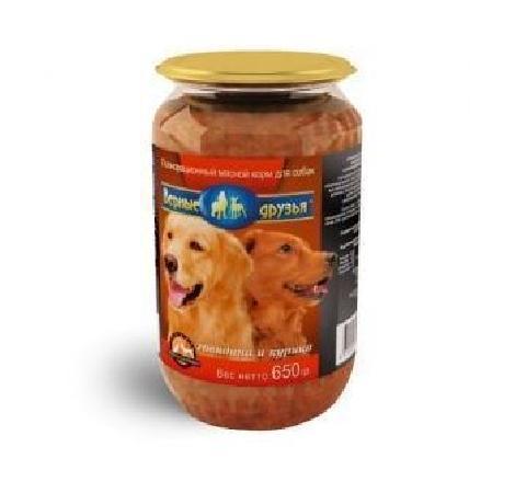 Верные друзья консерв. для собак 650г говкура стекло (18)