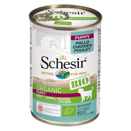Schesir Bio влажный корм для щенков всех пород, курица 400 гр