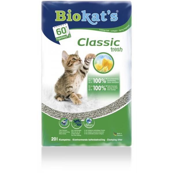 BioKats Fresh 3 in 1 комкующийся наполнитель для кошачьих туалетов, аромат трав и цветов 18 л