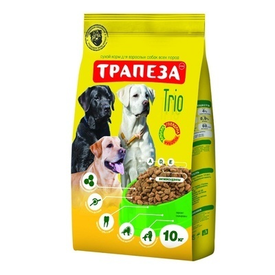 Трапеза Трио для взрослых собак, три вида мяса, 10,000 кг, 40915