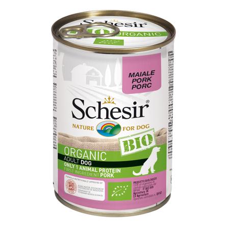 [132.2.С8104]  Schesir Bio консервы для собак свинина 400г