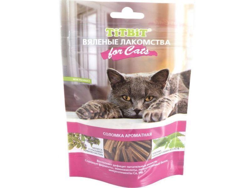 Titbit Вяленые лакомства Соломка ароматная лакомство для кошек 40 гр