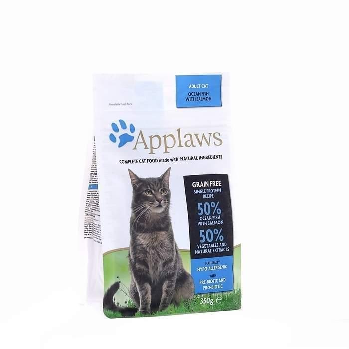 Applaws корм для взрослых кошек всех пород, беззерновой, океаническая рыба 6 кг