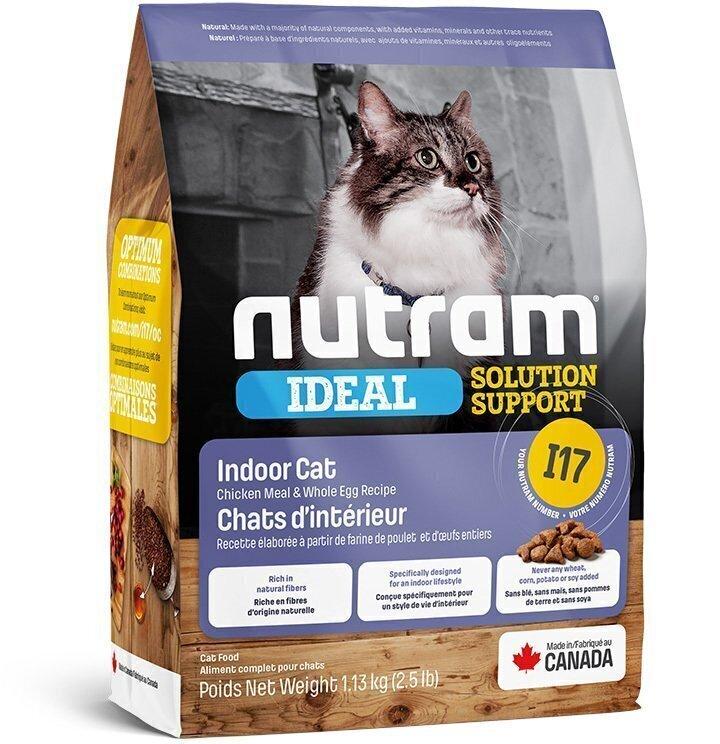 Корм Nutram CAT I17 Indoor Shedding 1.13кг для кошек привередливых, живущих в помещении 18256
