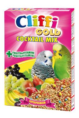 Cliffi (Италия) Коктейль для Волнистых попугаев: зерна, злаки, фрукты, овощи (Cocktail Mix Pappagallini) PCOA007, 0,300 кг, 40328