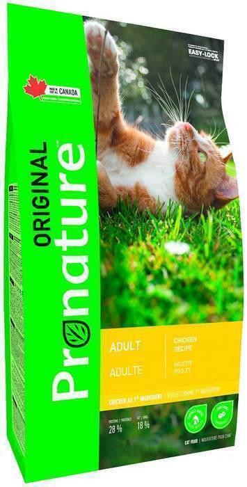 Pronature корм для взрослых кошек всех пород, курица 2,27 кг