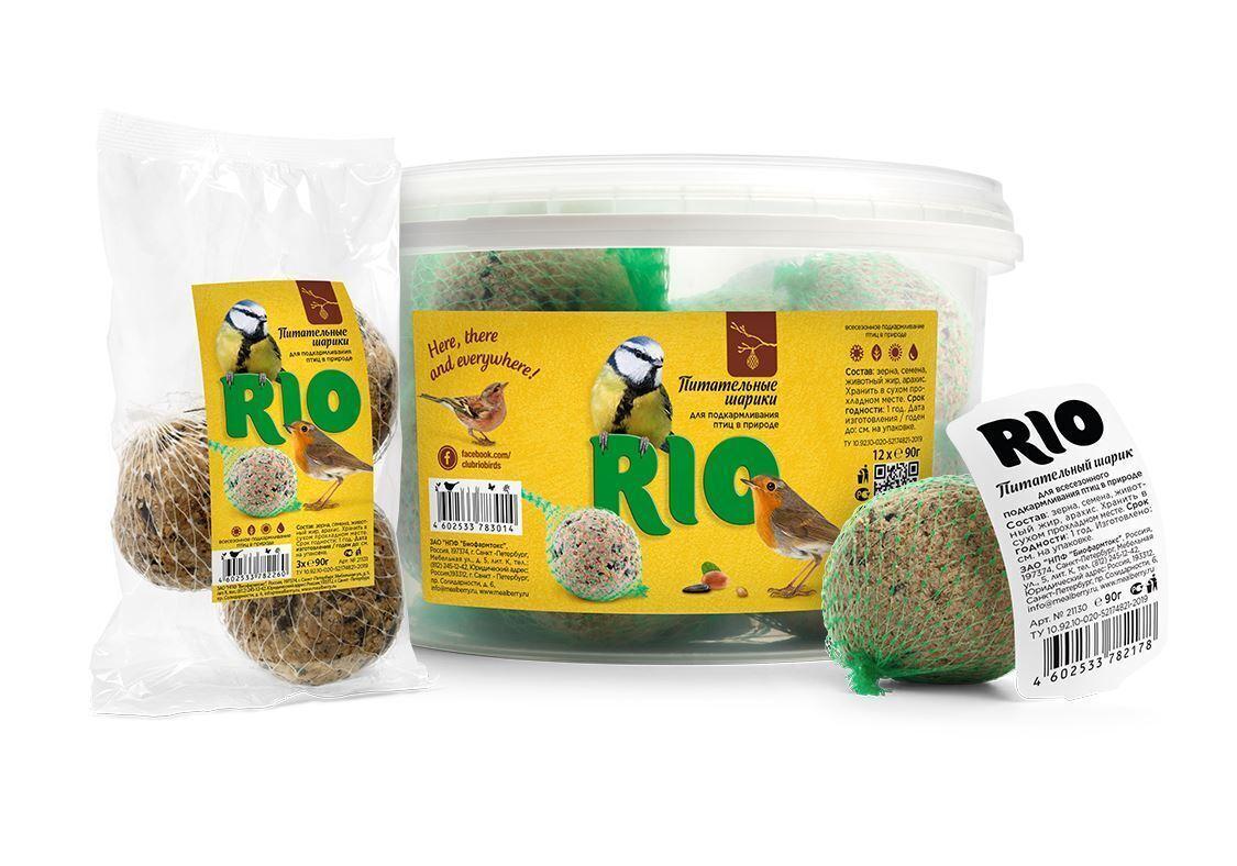 Рио 21131 Лакомство дптиц Питательный шарик 3*90г