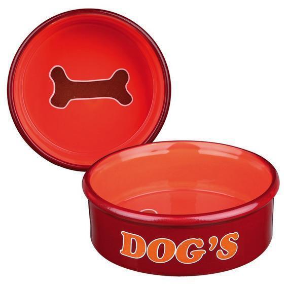 24489 Миска для собак Dogs, 1 лo 20 см, керамика, цвет в ассортименте
