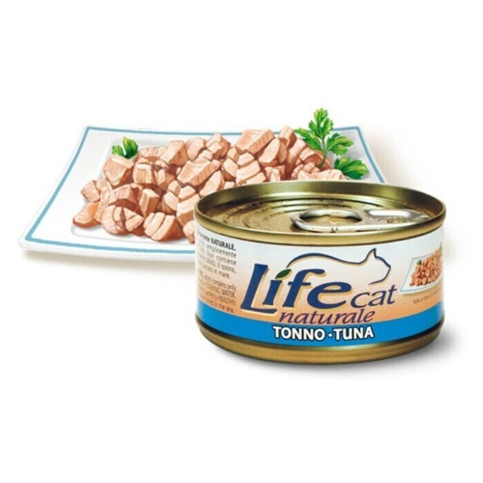 Lifecat Деликатес для кошек Тунец в бульоне 85гр 124