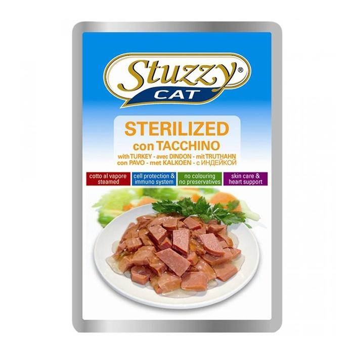 Stuzzy Cat влажный корм для стерилизованных кошек всех пород, с индейкой 100 гр