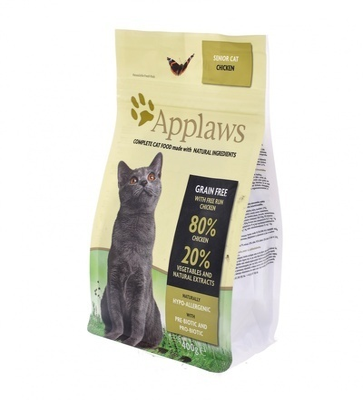 Applaws корм для пожилых кошек всех пород, беззерновой, курица и овощи 400 гр