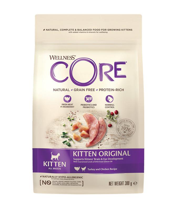 Wellness CORE корм для котят, индейка с лососем 300 гр