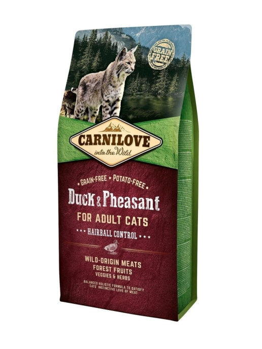 Carnilove 2кг Duck & Pheasant for Adult Cats – Hairball Control  дк утка и фазан
