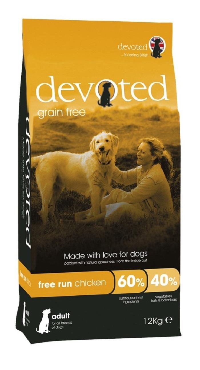 Devoted 40013 корм беззерновой для собак с Курицей свободного выгула 12кг