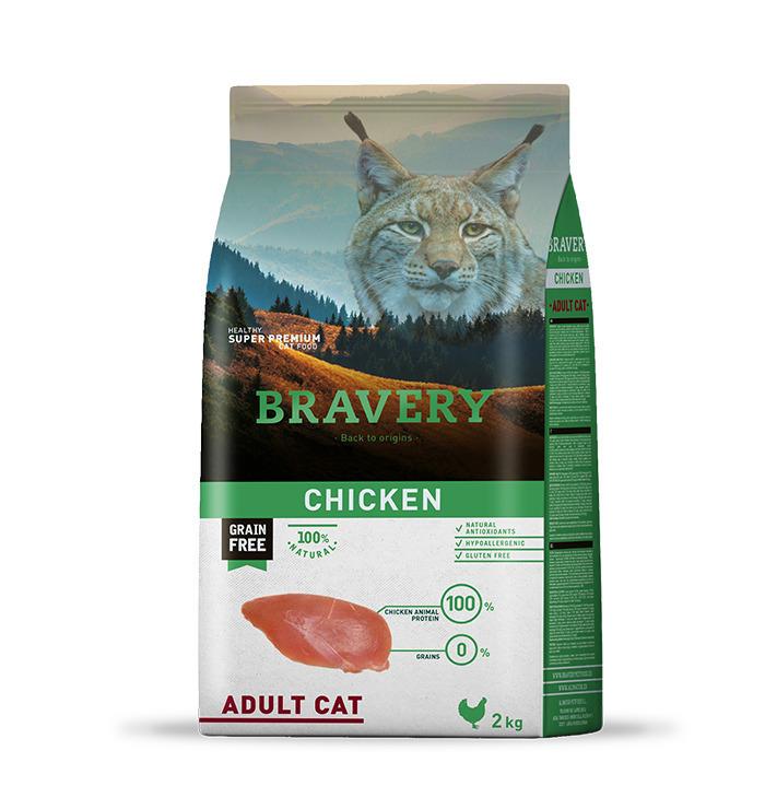 Bravery cat chicken корм для кошек Курица 400гр
