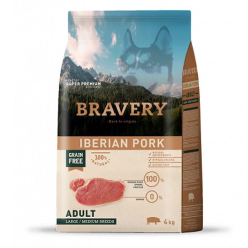 Bravery iberian pork adult  корм для собак Крупных и Средних пород Постная Свинина 4кг