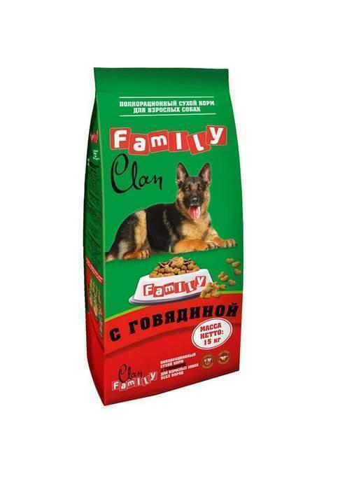 Clan Family корм для взрослых собак всех пород, говядина 15 кг