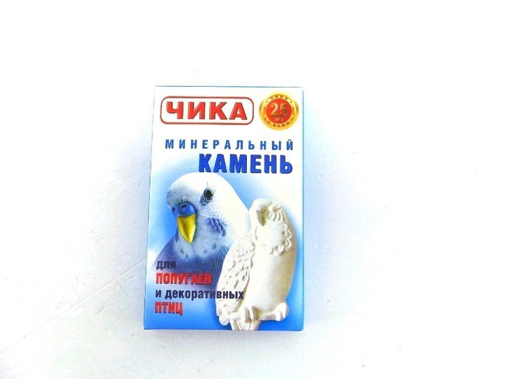 Чика минеральный камень дпопугаев и декоративных птиц 18г