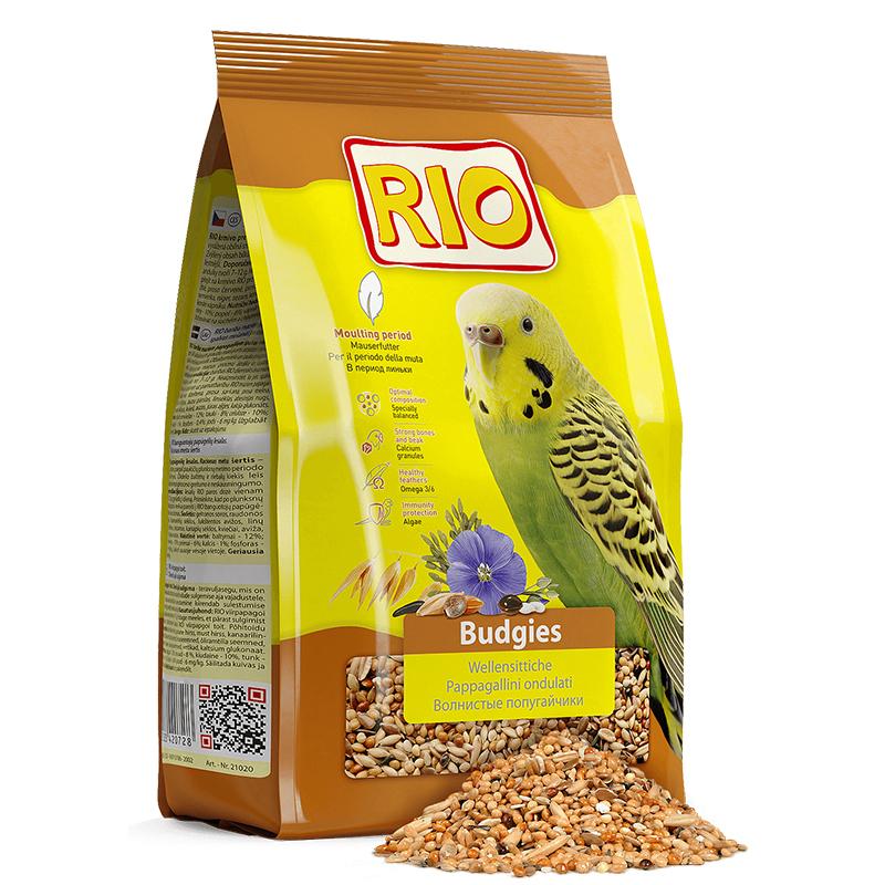 RIO корм дволнистых попугаев при линьке 500 гр