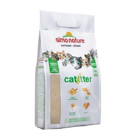 Almo Nature Cat Litter 100% Натуральный биоразлагаемый комкующийся наполнитель, 4,540 кг, 20835
