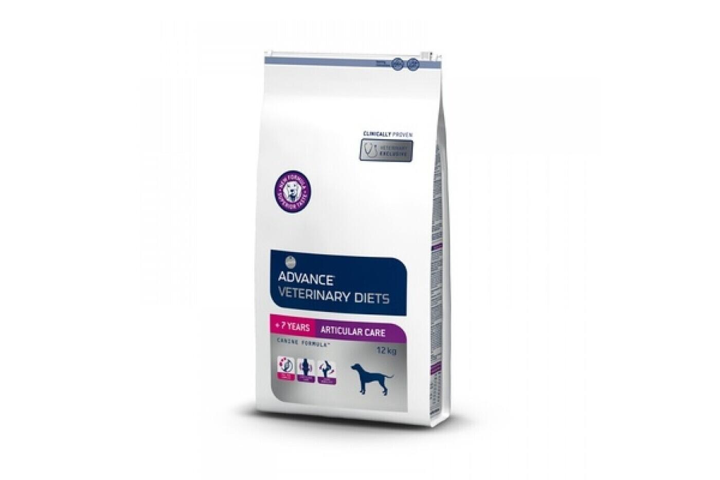 Advance корм для пожилых собак всех пород при заболеваниях суставов и лишнем весе, курица и рис 12 кг