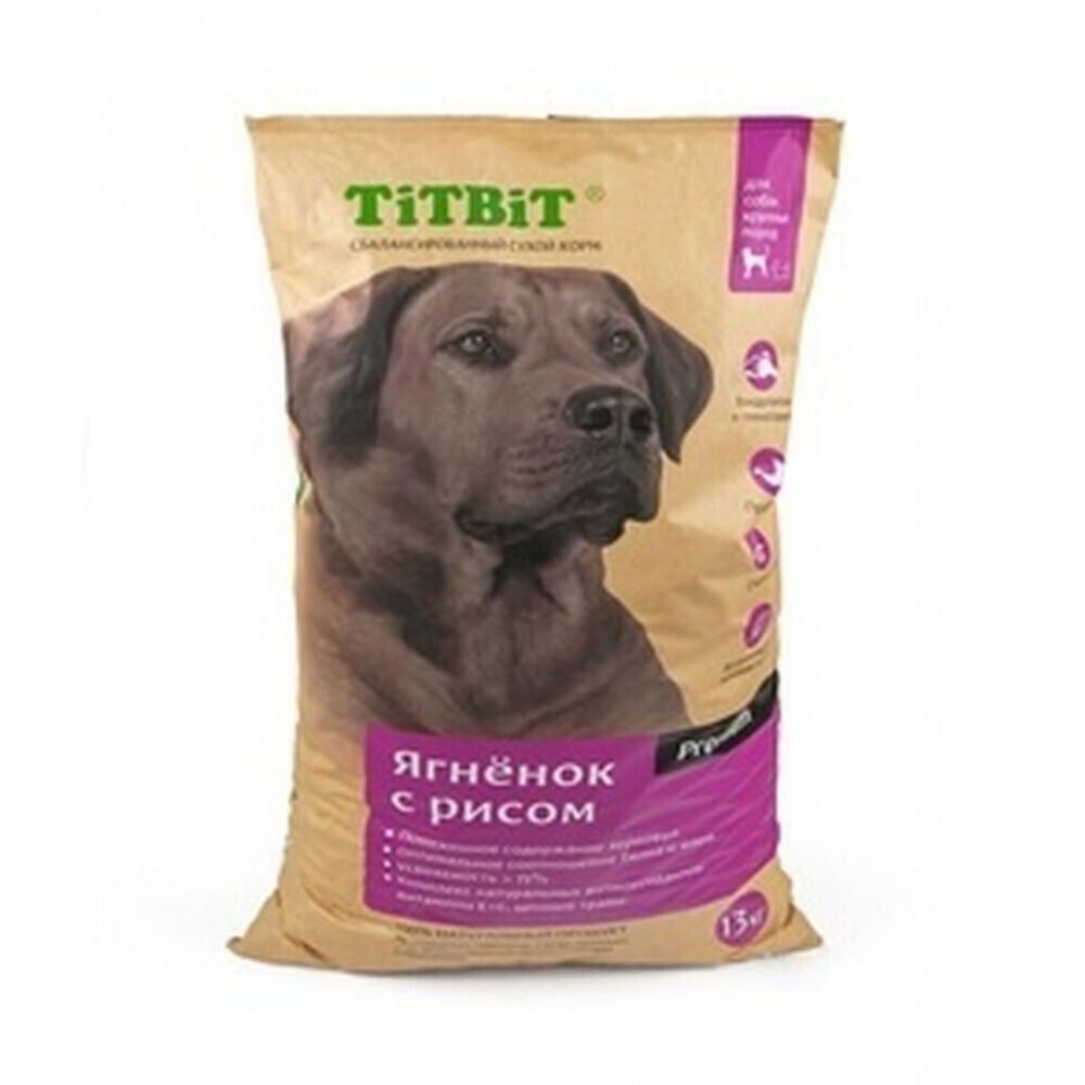 TiTBiT Сухой корм для собак крупных пород ягненок с рисом (008379), 13,000 кг, 40665