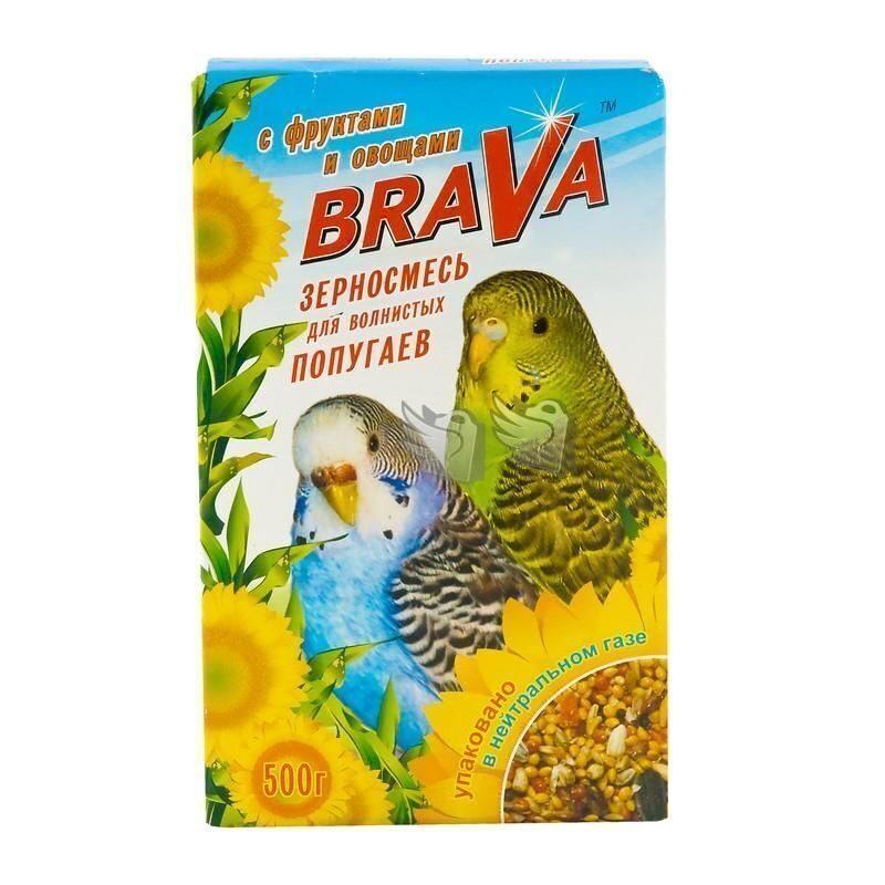 Брава 27520 Корм дволнистых попугаев Фрукты+овощи 500г