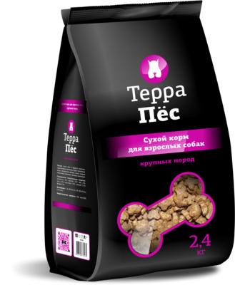 ТерраПес корм для собак крупных пород 12 кг