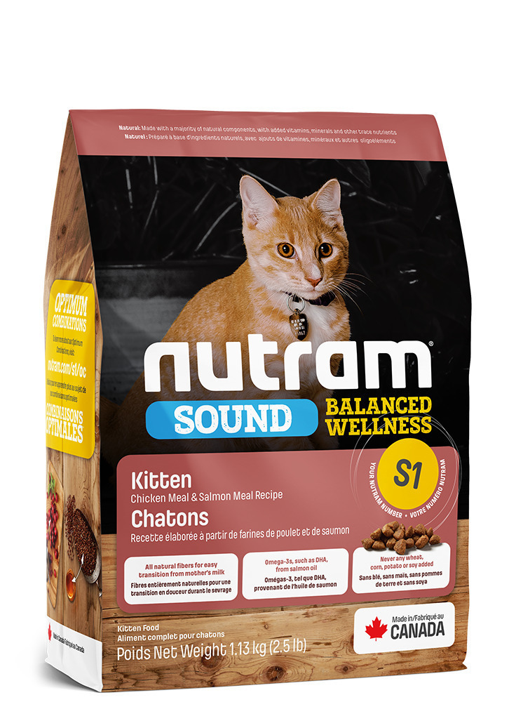 Nutram корм для котят всех пород 1,13 кг
