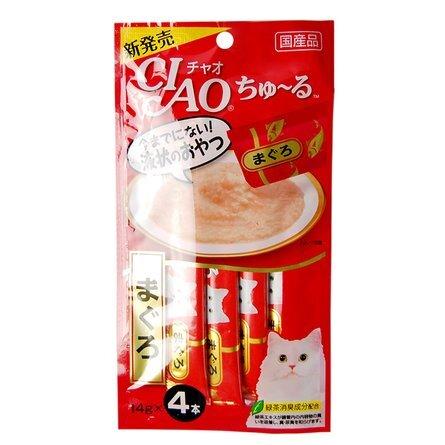 CIAO лакомство для кошек, желтоперый тунец 56 гр