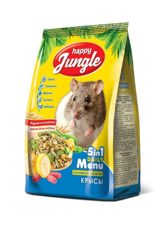 Happy Jungle корм для декоративных крыс 400 гр