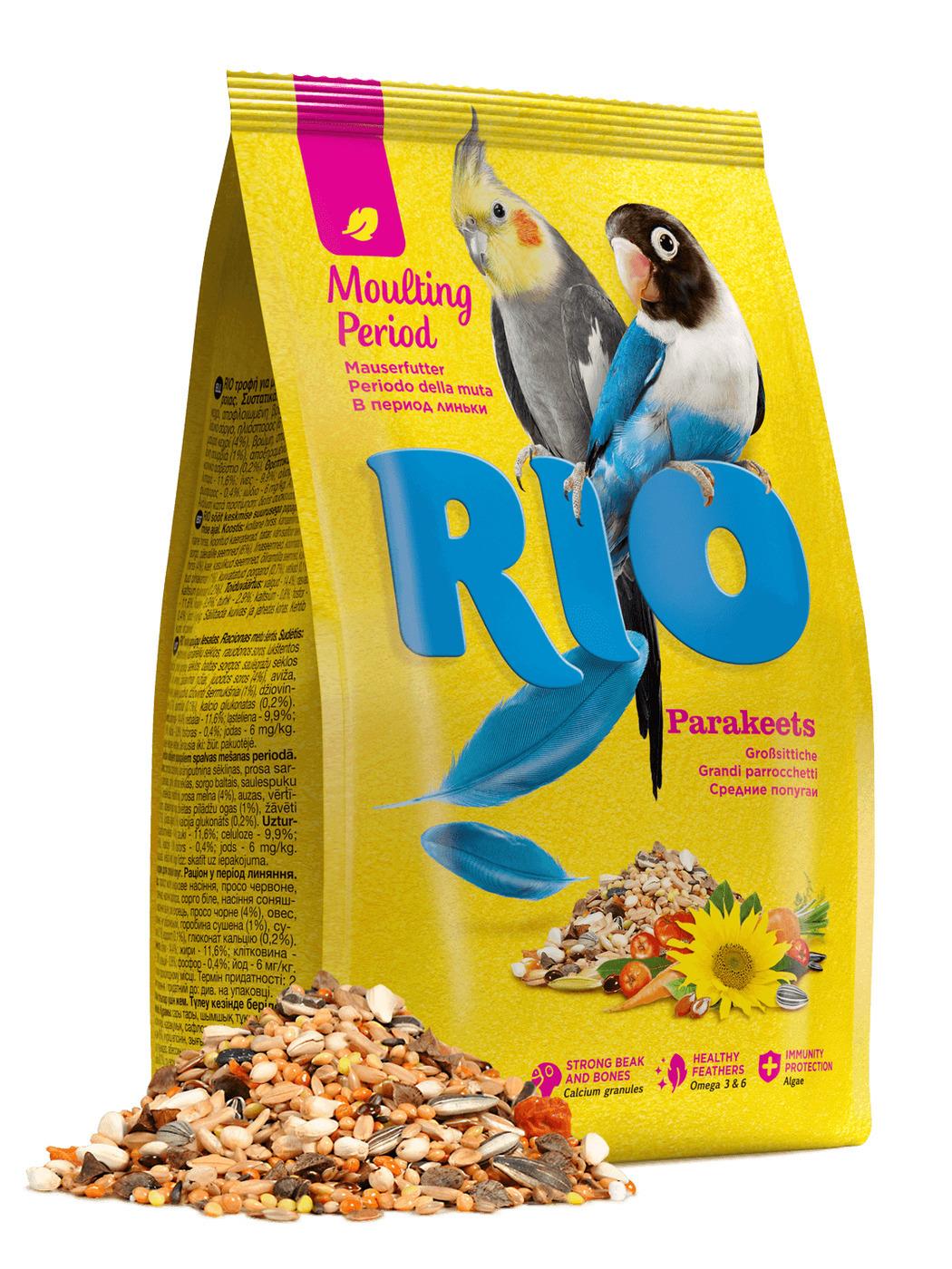 RIO корм длЯ собак редних попугаев при линьке 1кг
