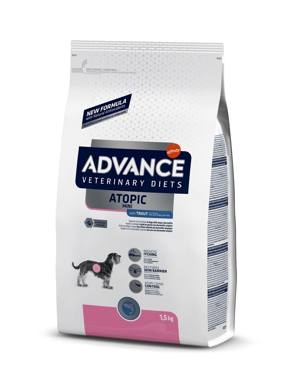 Advance корм для взрослых собак малых пород при дерматозах и аллергии, форель и картофель 1,5 кг