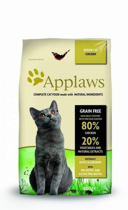 Applaws корм для пожилых кошек всех пород, беззерновой, курица и овощи 2 кг